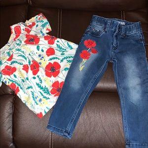 Poppy Skinny Jeans and Poppy Blouse